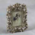 "Baroque Style Antique Silver Portrait Photo Frame for Picture 6""x4"""